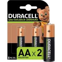 Duracell - Duracell Şarj Edilebilir AA Kalem Pil 2500 mAh Piller 2li Paket