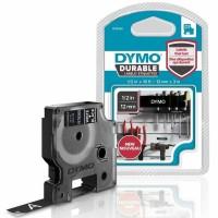 Dymo - Dymo D1 Kalıcı Şerit 12 mm x 3 m Siyah Beyaz 1978365