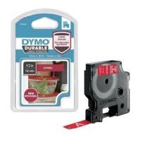 Dymo - Dymo D1 Kalıcı Şerit 12mmx3m Kırmızı|Beyaz