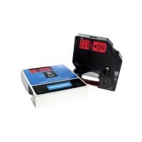 Dymo - Dymo LabelManager D1 Yedek Şerit 12 mm x 7 m Kırmızı Siyah 45017