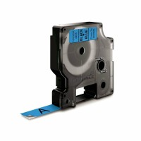 Dymo - Dymo LabelManager D1 Yedek Şerit 12 mm x 7 m Mavi Siyah 45016