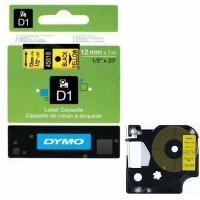 Dymo - Dymo LabelManager D1 Yedek Şerit 12 mm x 7 m Sarı Siyah 45018
