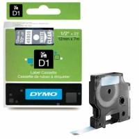 Dymo - Dymo LabelManager D1 Yedek Şerit 12 mm x 7 m Şeffaf Beyaz 45020