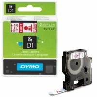Dymo - Dymo LabelManager D1 Yedek Şerit 12 mm x 7 m Şeffaf Kırmızı 45012