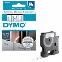 Dymo - Dymo LabelManager D1 Yedek Şerit 12 mm x 7 m Şeffaf Mavi 45011