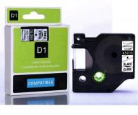 Dymo - Dymo LabelManager D1 Yedek Şerit 12 mm x 7 m Şeffaf Siyah 45010