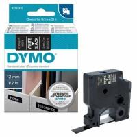 Dymo - Dymo LabelManager D1 Yedek Şerit 12 mm x 7 m Siyah Beyaz 45021