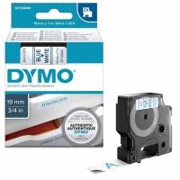 Dymo - Dymo LabelManager D1 Yedek Şerit 19 mm x 7 m Beyaz Mavi 45804