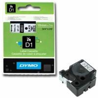 Dymo - Dymo LabelManager D1 Yedek Şerit 19 mm x 7 m Beyaz Siyah 45803