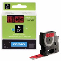 Dymo - Dymo LabelManager D1 Yedek Şerit 19 mm x 7 m Kırmızı Siyah 45807