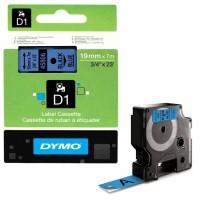 Dymo - Dymo LabelManager D1 Yedek Şerit 19 mm x 7 m Mavi Siyah 45806