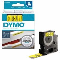 Dymo - Dymo LabelManager D1 Yedek Şerit 19 mm x 7 m Sarı Siyah 45808